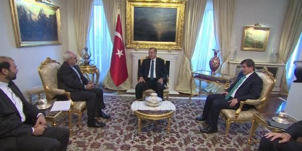 Erdoğan, Iran Dişişleri Bakani Muhammed Cevad Zarif Ile Görüştü