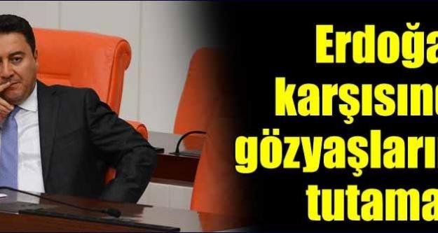 Erdoğan karşısında gözyaşlarını tutamadı