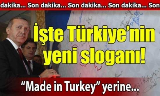 Erdoğan Türkiye'nin yeni sloganını açıkladı!