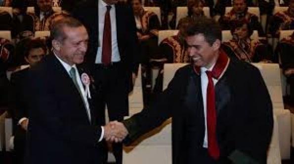 Erdoğan ve Feyzioğlu, Tören Öncesi Gülerek Poz Vermişti...