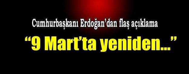 Erdoğan yeniden tarih verdi