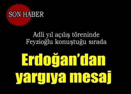 Erdoğan'dan Feyzioğlu konuştuğu sırada yargıya mesaj