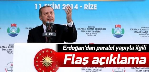 Erdoğan'dan flaş paralel yapı açıklaması
