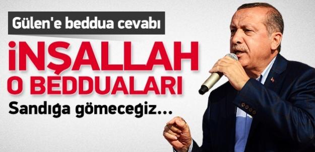 Erdoğan'dan Gülen'e beddua cevabı...
