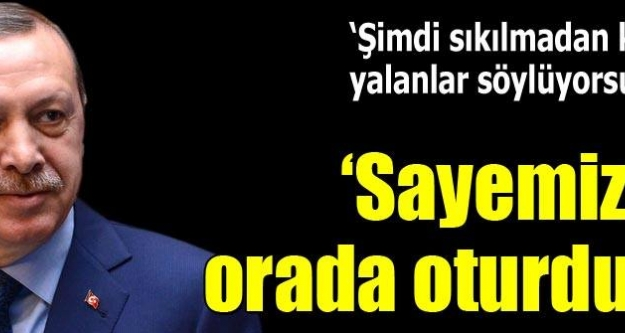 Erdoğan'dan İhsanoğlu'na: Sayemizde bir makama geldi