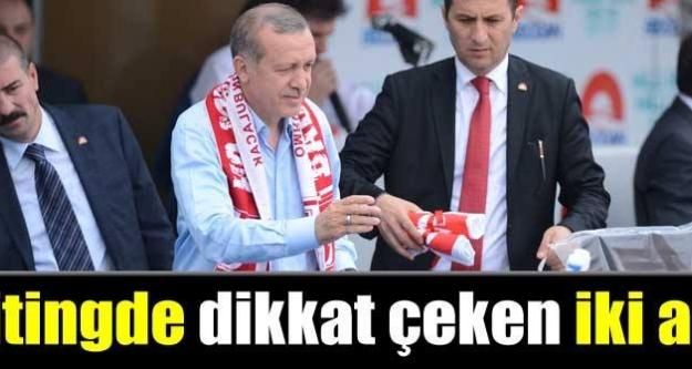 Erdoğan'dan mitinge iki ara