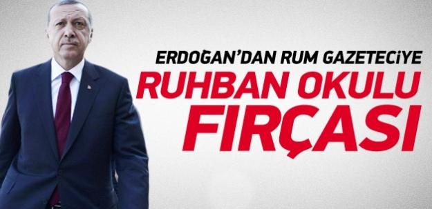 Erdoğan'dan 'Ruhban Okulu' fırçası