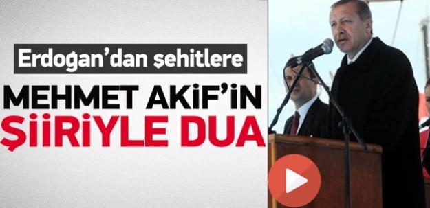 Erdoğan'ın Çanakkale şehitleri için ettiği dua...