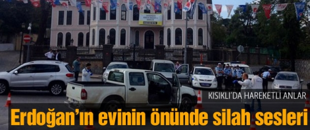 Erdoğan'ın evinin önünde hareketli anlar