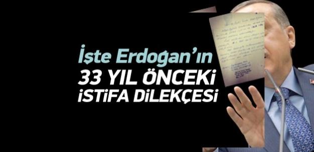 Erdoğan'ın İETT'den istifa dilekçesi ortaya çıktı