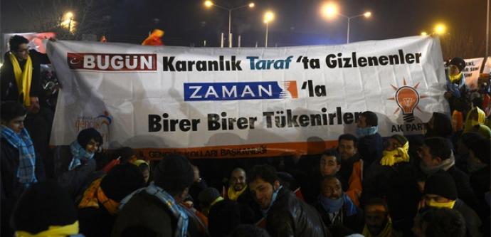 Erdoğan'ın mitingine damga vuran pankart!