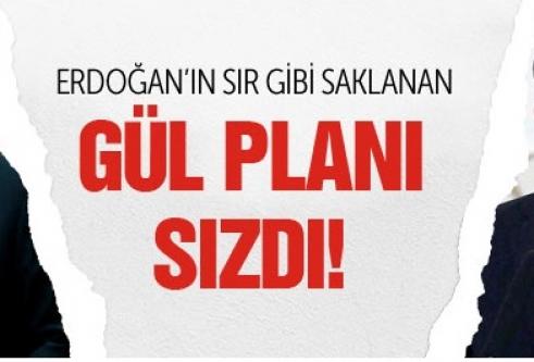 Erdoğan'ın sır gibi saklanan Gül planı sızdı