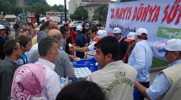 Ereğli'de 5 Bin Süt Ürünü Dağıtıldı
