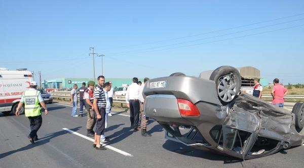 Ergene'de Trafik Kazası: 4 Yaralı