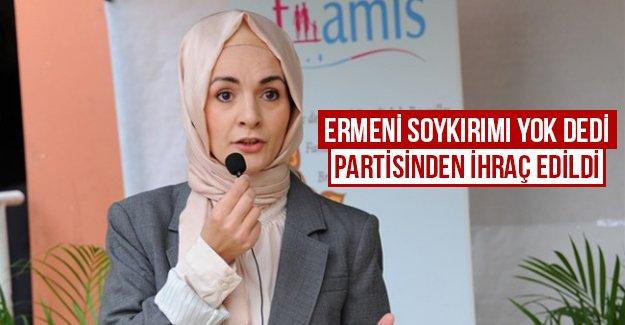 Ermeni soykırımı yok dedi partisinden ihraç edildi...