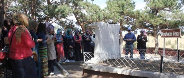 Erzurum'a Gelen 40 Kız Öğrenci Nene Hatun'un Mezarı Başında