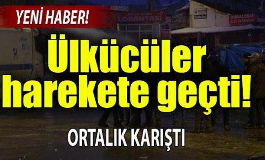 Erzurum'da HDP'li ülkücü gerginliği!