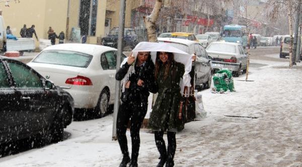 Erzurum'da Kar Hayati Felç Etti (2)