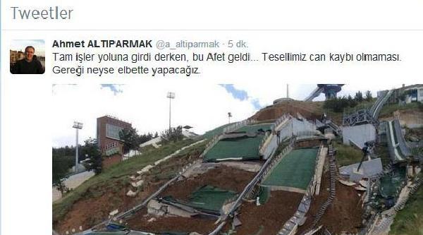 Erzurum'un Sembolü Olan Kayakta Atlama Kulelerinin Pistleri Göçtü (3)