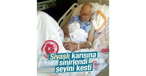 Eşine kızan Sivaslı cinsel organını kesti