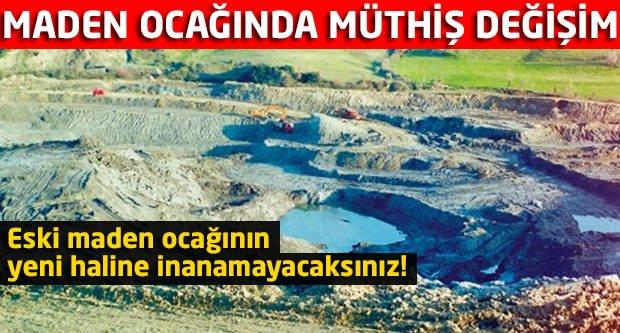 Eski maden ocağının yeni haline inanamayacaksınız!