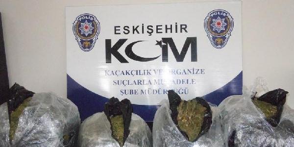 Eskişehir'de 36 Kilo Esrar Ele Geçirildi