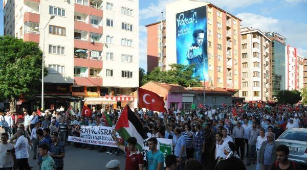 Eskişehir'de 5 Bin Kişi İsrail'i Protesto Yürüyüşüne Katıldı