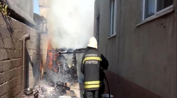 Evin Bahçesine Kurulan Soba Yangına Neden Oldu