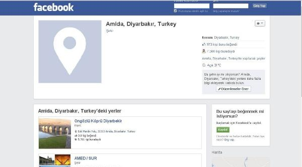 Facebook, Diyarbakır'ın Da Adını 'değiştirdi'