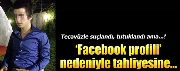 Facebook profili nedeniyle tahliye...