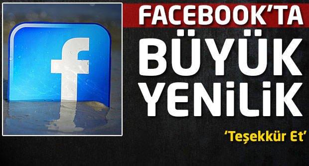 Facebook'ta büyük yenilik!