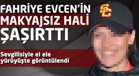 Fahriye Evcen makyajsız şekilde Burak Özçivit'le el ele görüntülendi !