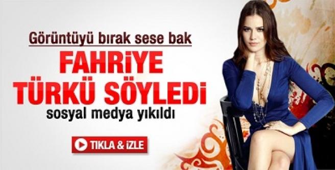 Fahriye Evcen türkü söyledi sosyal medya yıkıldı!