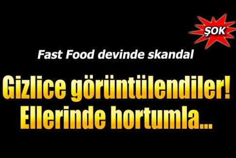 Fast food devinde yine skandal