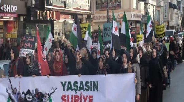 Fatih'te Suriye İçin Yürüdüler