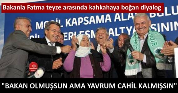 Fatma teyze kahkahaya boğdu :