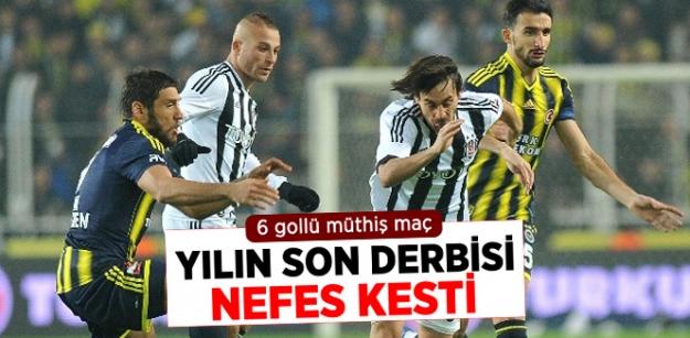 Fenerbahçe, Beşiktaş'la 3-3 Berabere Kaldı...