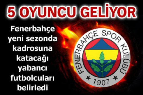 Fenerbahçe'nin listesi hazır