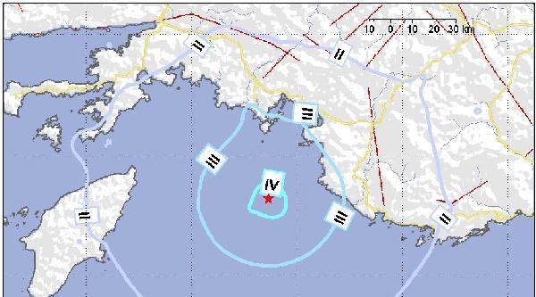 Fethiye Açıklarında 4.1 Büyüklüğünde Deprem