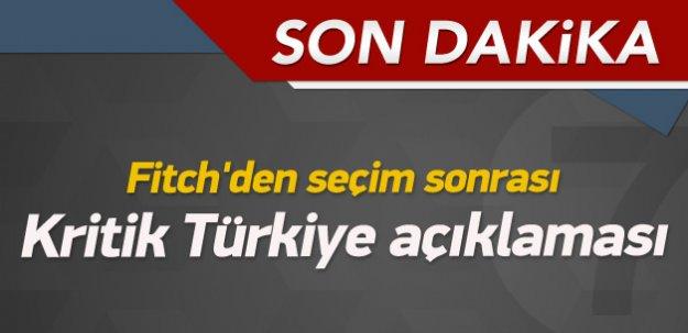 Fitch'den kritik Türkiye açıklaması