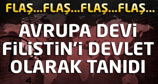 Flaş! Avrupa devi Filistin'i devlet olarak tanıdı!
