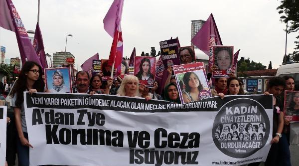 (fotoğraf)  Kadınlar Alternatif Yargı Paketi İçin Yürüdü