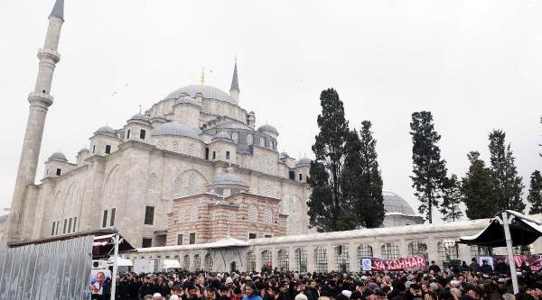 Fotoğraflar// Abdülkadir Molla Için Fatih Camii'nde Giyabi Cenaze Namazi