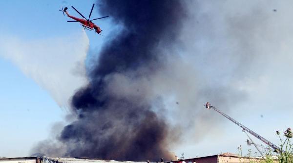 Fotoğraflar// Büyükçekmece'de İplik Fabrikası'nda Yangın