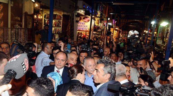 Fotoğraflar // Cumhurbaşkanı Adayı Ekmeleddin İhsanoğlu Mısır Çarşisi'ni Gezdi