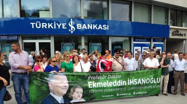 Fotoğraflar- Cumhurbaskanı Adayı İhsanoğlu'na Bağış Kampanyası