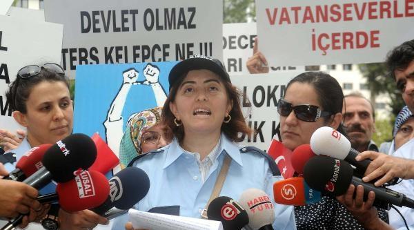Fotoğraflar //polis Eşlerinden Üniformali Protesto