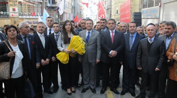 Fotoğraflar - Sarigül, Chp Istanbul Il Başkanliği'ni Ziyaret Etti, Parti Binasi Önünde Konustu