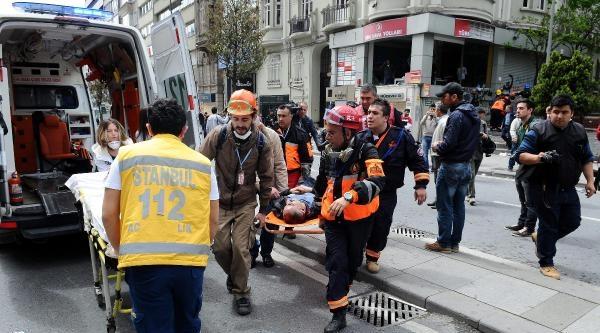 Fotoğraflar// Şişli'deki Müdahale Sonrası Yaralananlar Hastaneye Kaldırıldı