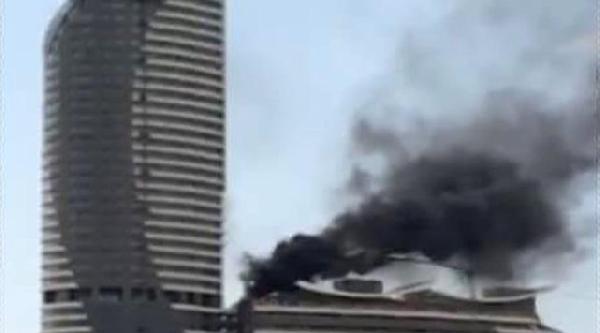 Fotoğraflar - Üsküdar'da Gökdelende Yangın